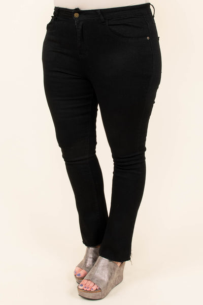 The Party's Just Begun Flare Jeans, Black