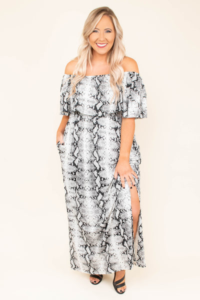 Never Overlooked Maxi Dress, Grey