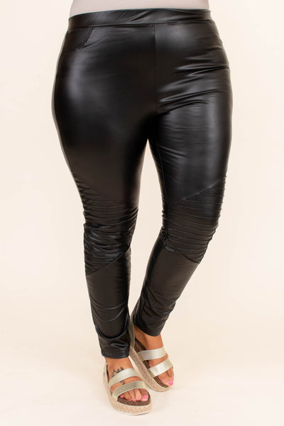 leggings, long, faux leather, moto stitching, skinny, comfy