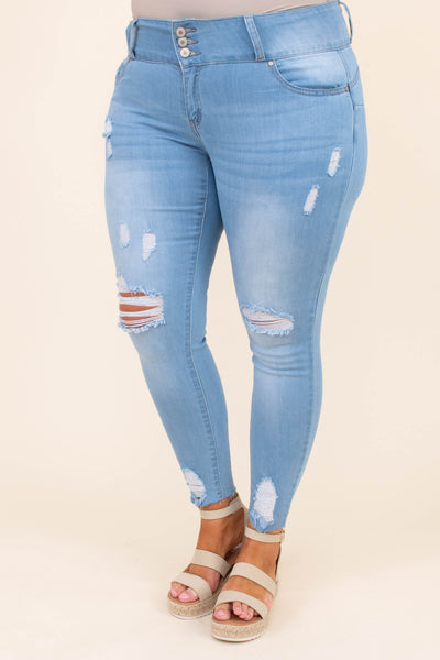 Just For The Frill Of It Jeans, Light Wash