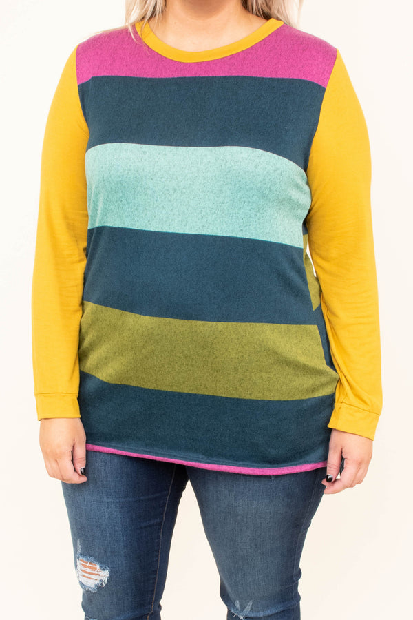 shirt, long sleeve, loose, long, pink, teal, blue, green, yellow, colorblock, comfy, fall, winter
