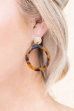Working Girl Earrings, Tortoise