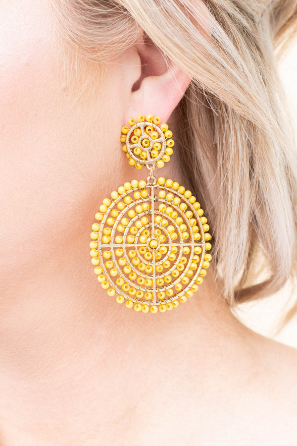 Nothing To Lose Earrings, Mustard