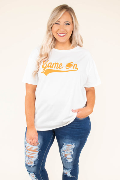 Time For Touchdowns Tee, White