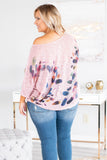 shirt, three quarter sleeve, off the shoulder, curved hem, short, mauve, feathers, blue, orange, green, red, comfy