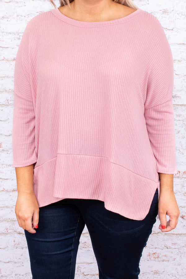Sweetest Hour Top, Rose