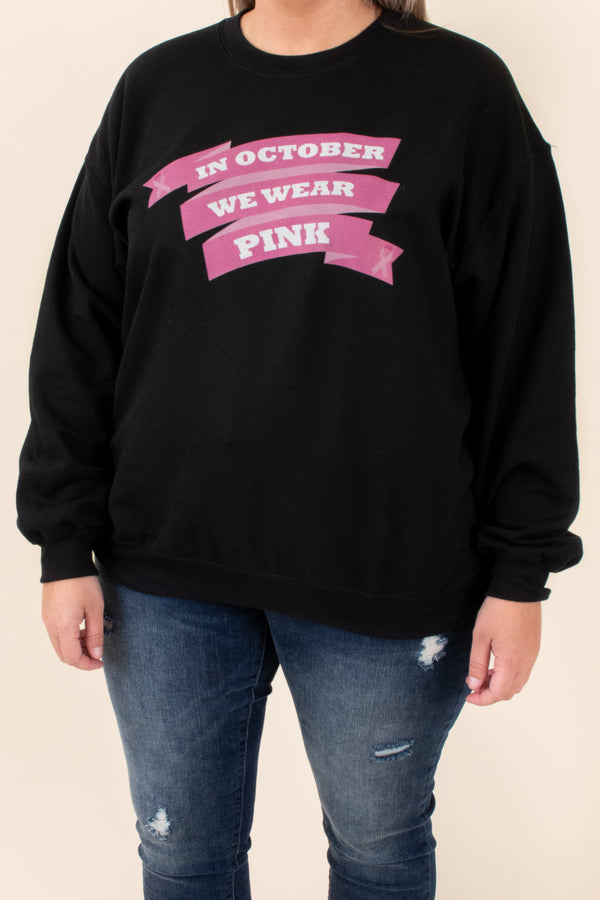 black, sweatshirt, graphic, print, long sleeve, comfy, pullover