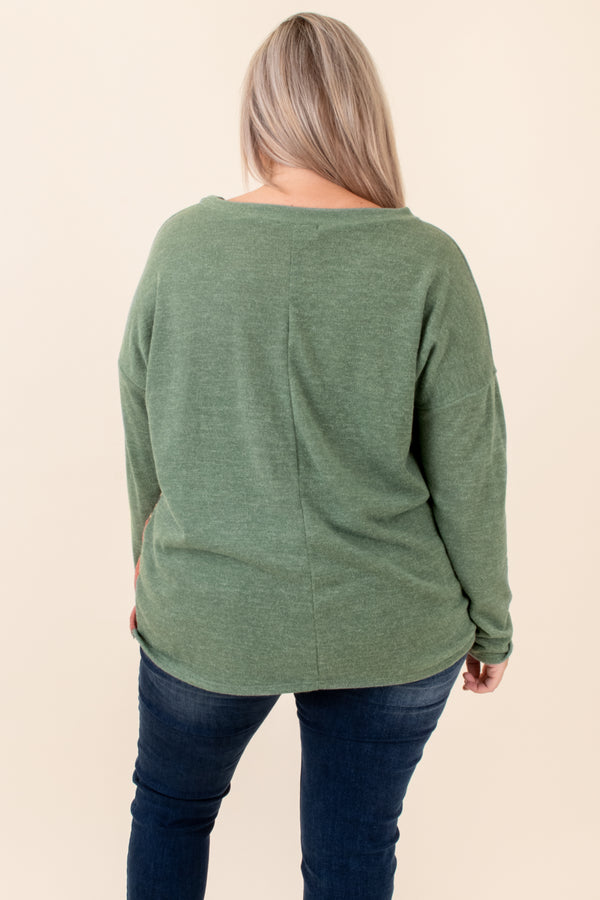 Caught Up In The Dream Top, Olive-Camel-Rust