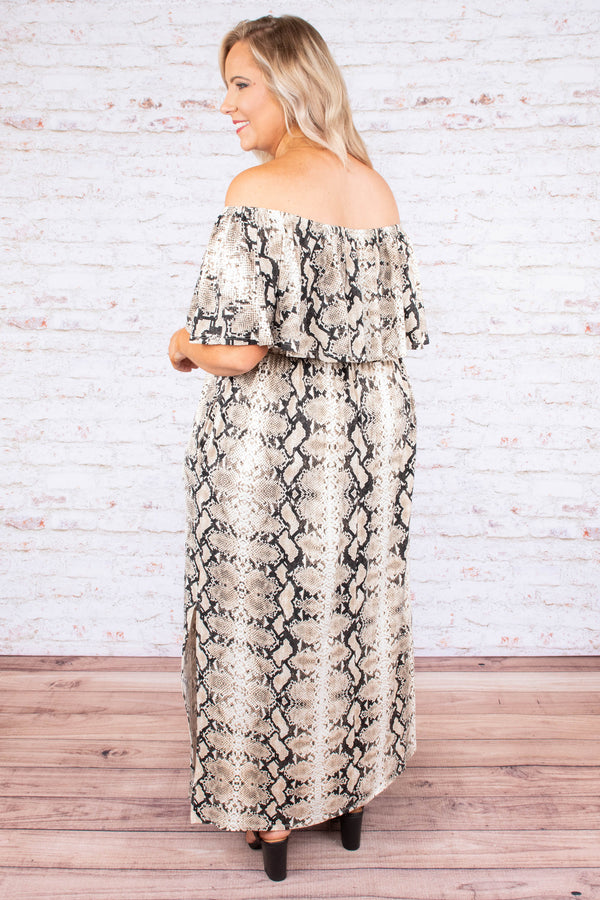 Never Overlooked Maxi Dress, Taupe