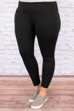 Lounging Sunday Leggings, Black