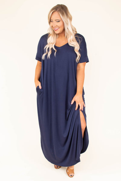 Seeing The Truth Maxi Dress, Navy