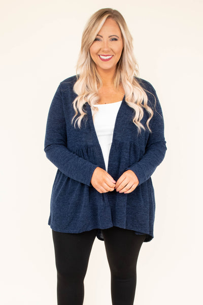 cardigan, long sleeve, babydoll, flowy, navy, solid, comfy, fall, winter