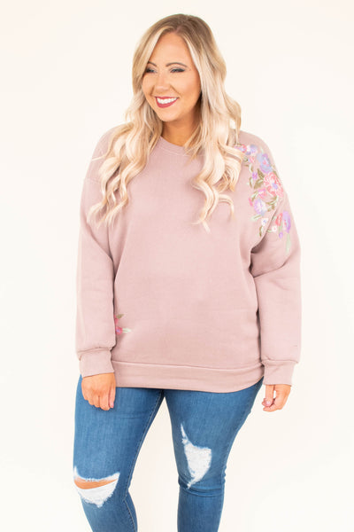 Enchanted Garden Sweater, Mauve