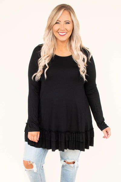 Toast To My Girls Tunic, Black