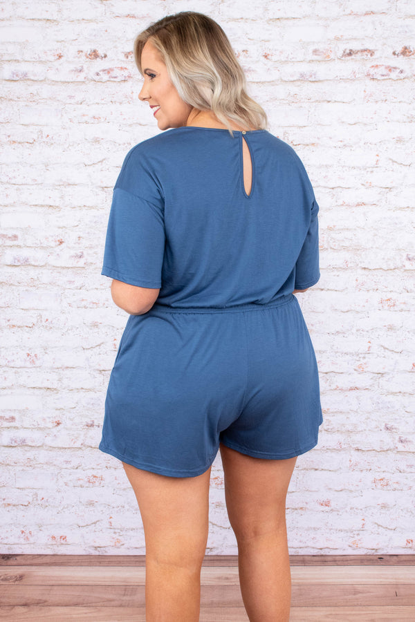 Your Number One Romper, Dolphin