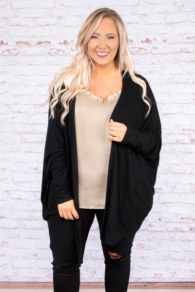 Goes With It All Cardigan, Black