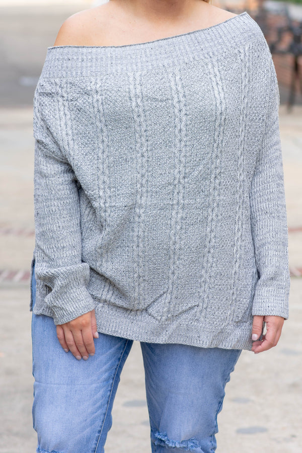 City Strolling Sweater, Heather Gray
