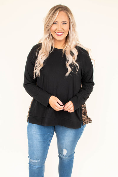 Business In The Front Top, Black