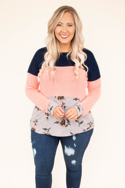Do Re Mi Top, Navy-Blush
