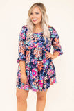 Sunny Disposition Dress, Navy