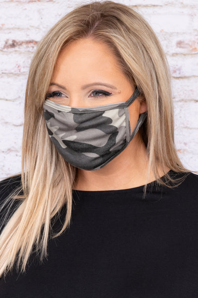 accessories, mask, face mask, gray, camo, camoflauge
