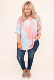 shirt, short sleeve, long, loose, mint, purple, white, pink, tie dye, comfy, spring, summer