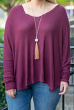 Afternoon Naps Top, Burgundy