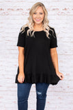 See Through You Tunic, Black