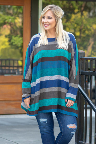 Starts With A Smile Tunic, Teal