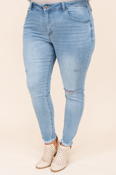 bottoms, jeans, blue, distressed, skinny, medium wash