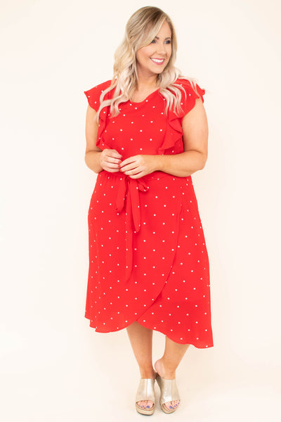 Through The Grapevine Dress, Red