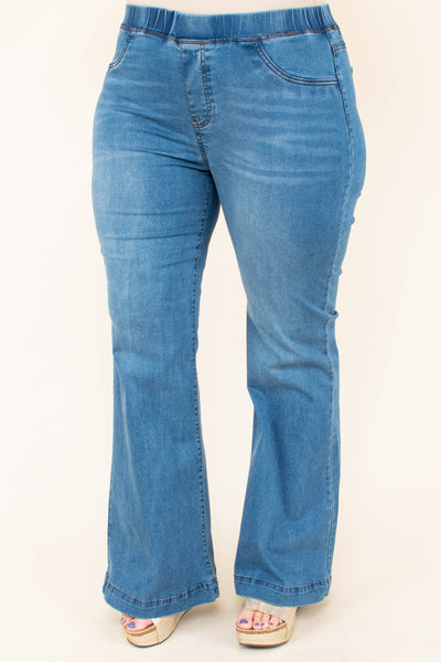 Dare To Flare Jeans, Medium Wash