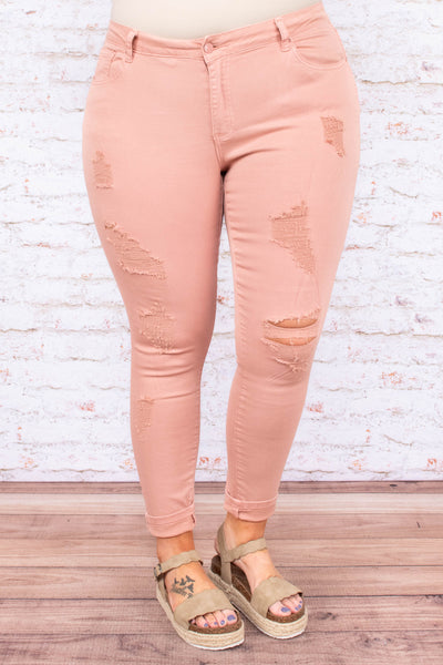 Wonderful Wildflower Jeans, Mauve
