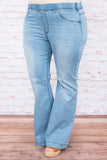 Dare To Flare Jeans, Light Wash
