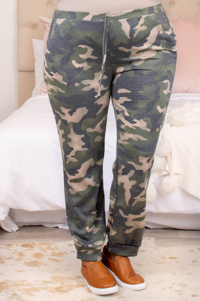 bottoms, joggers, green, camo, long, comfy, casual, warm, casual