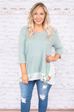 Coastline Views Tunic, Sage