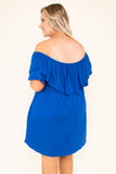 Those Springtime Blues Dress, Cobalt