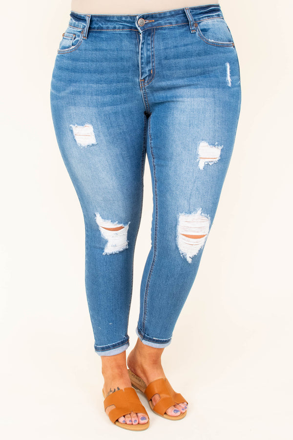 Need A Little Love Skinny Jeans, Medium Wash