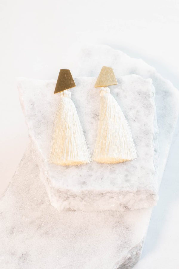 Regan Allison Designs: A Stately Event Earrings, Ivory