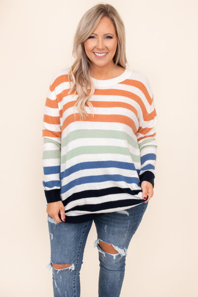 top, sweater, white, orange, green, blue, black, long sleeve, warm, comfy, casual, winter