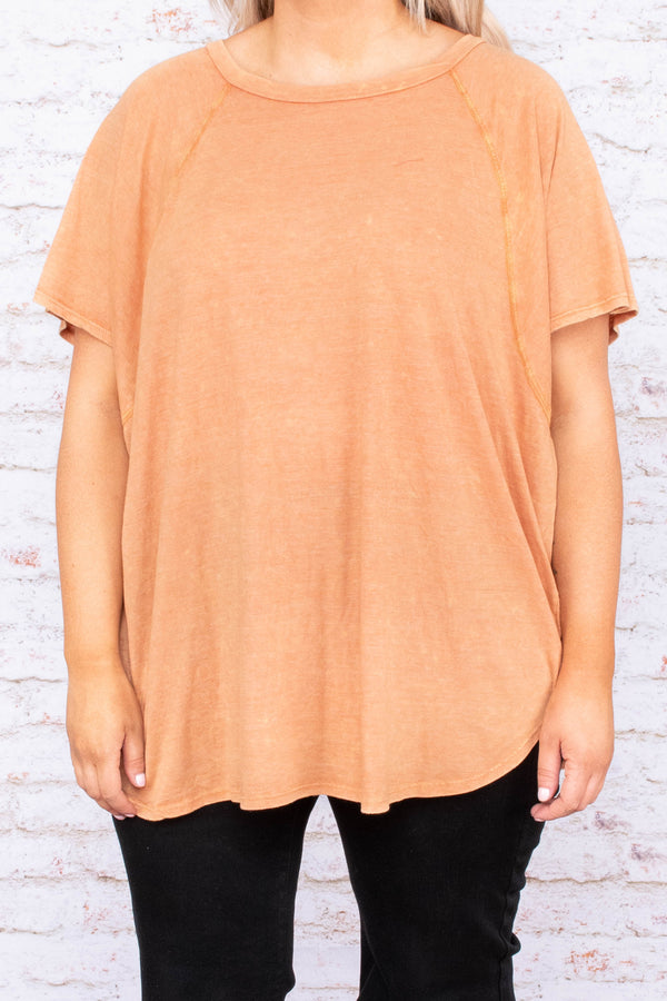 Runaway Love Top, Orange Cream