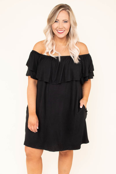 Those Springtime Blues Dress, Black
