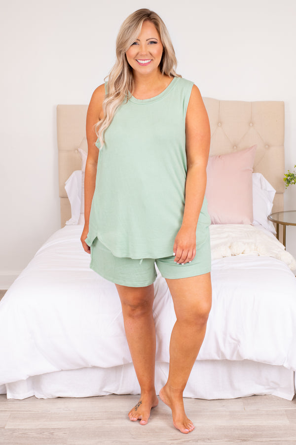 shirt, top, tank, sleeveless, mint, green, loose, comfy, lounge wear, lounge top