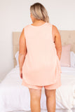 shirt, top, tank, sleeveless, pink, light pink, loose, comfy, lounge wear, lounge top