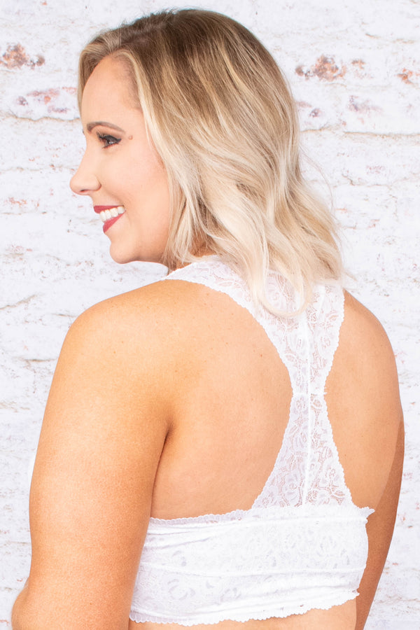 Ladies Night Bralette, White