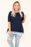 Walk Outta Here Top, Navy