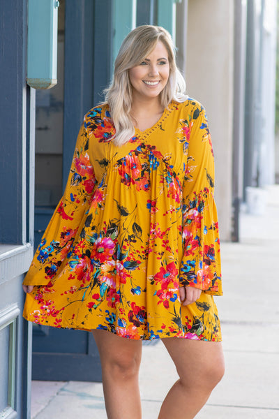 Beautiful Dreamer Dress, Mustard