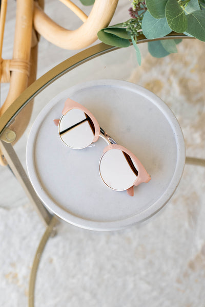 accessories, sunglasses, pink, blush, solid