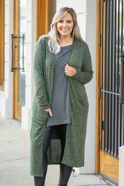 Go The Extra Mile Cardigan, Olive