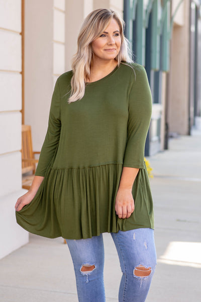 No More Drama Tunic, Green